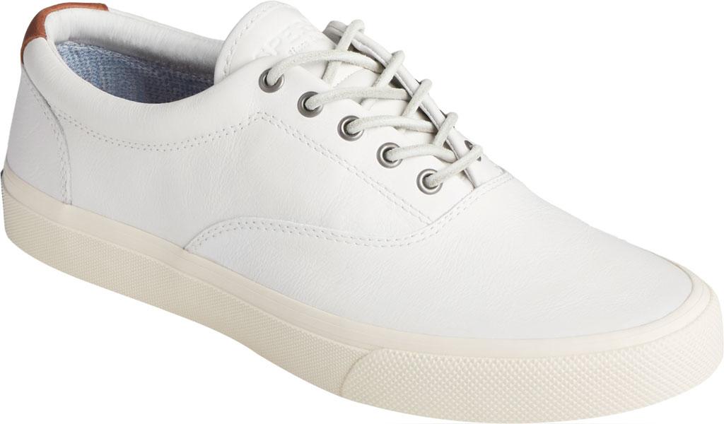 Men's Sperry Top-Sider Striper PLUSHWAVE CVO Sneaker, White Full Grain Leather, large, image 1