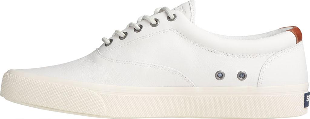Men's Sperry Top-Sider Striper PLUSHWAVE CVO Sneaker, White Full Grain Leather, large, image 3