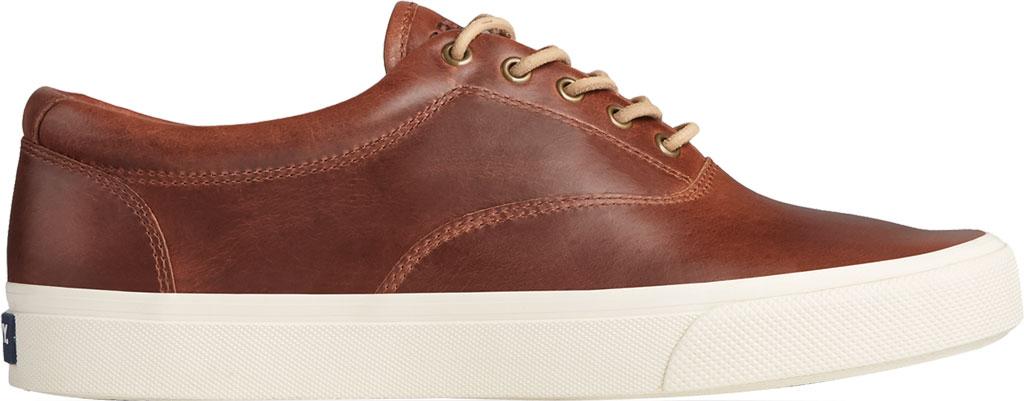 Men's Sperry Top-Sider Striper PLUSHWAVE CVO Sneaker, Dark Tan Full Grain Leather, large, image 2