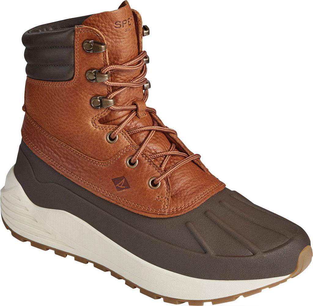 Men's Sperry Top-Sider Freeroam Hi Duck Boot, Dark Brown/Tan Leather, large, image 1