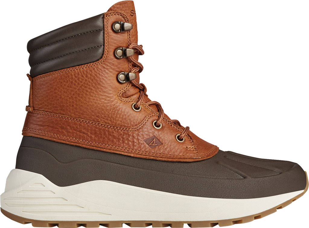 Men's Sperry Top-Sider Freeroam Hi Duck Boot, Dark Brown/Tan Leather, large, image 2