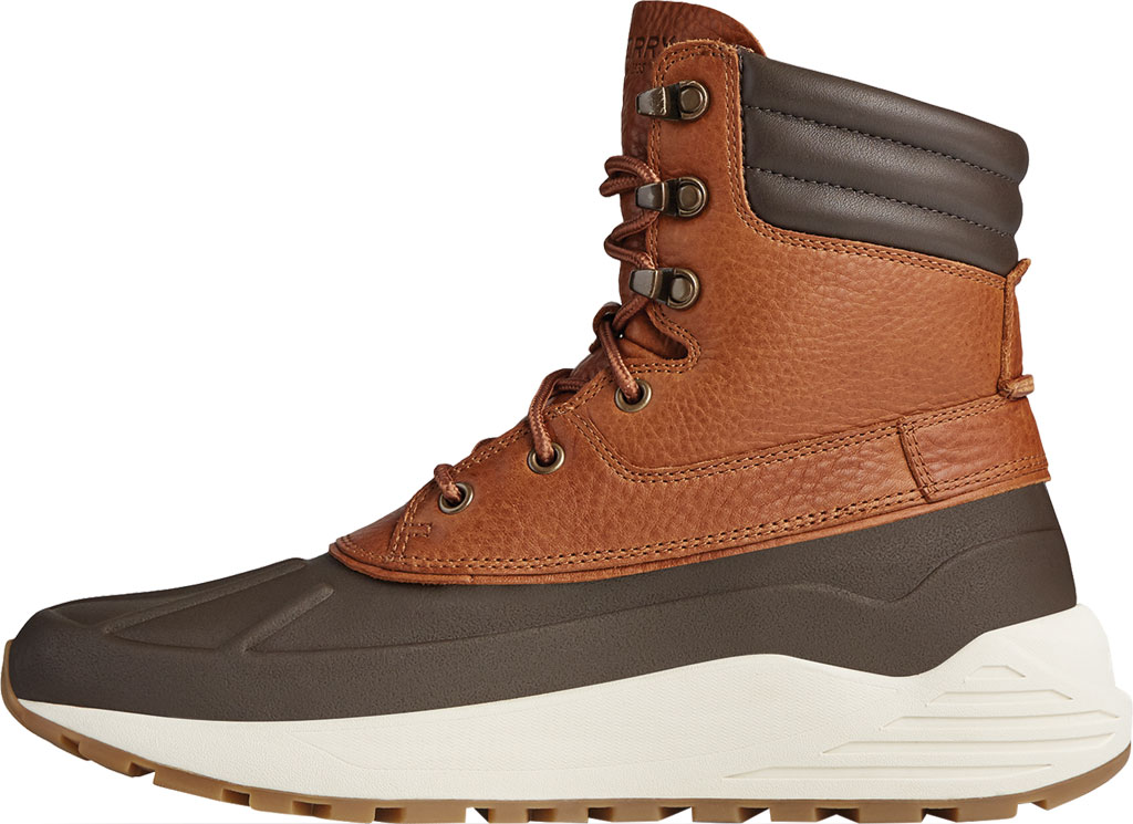Men's Sperry Top-Sider Freeroam Hi Duck Boot, Dark Brown/Tan Leather, large, image 3