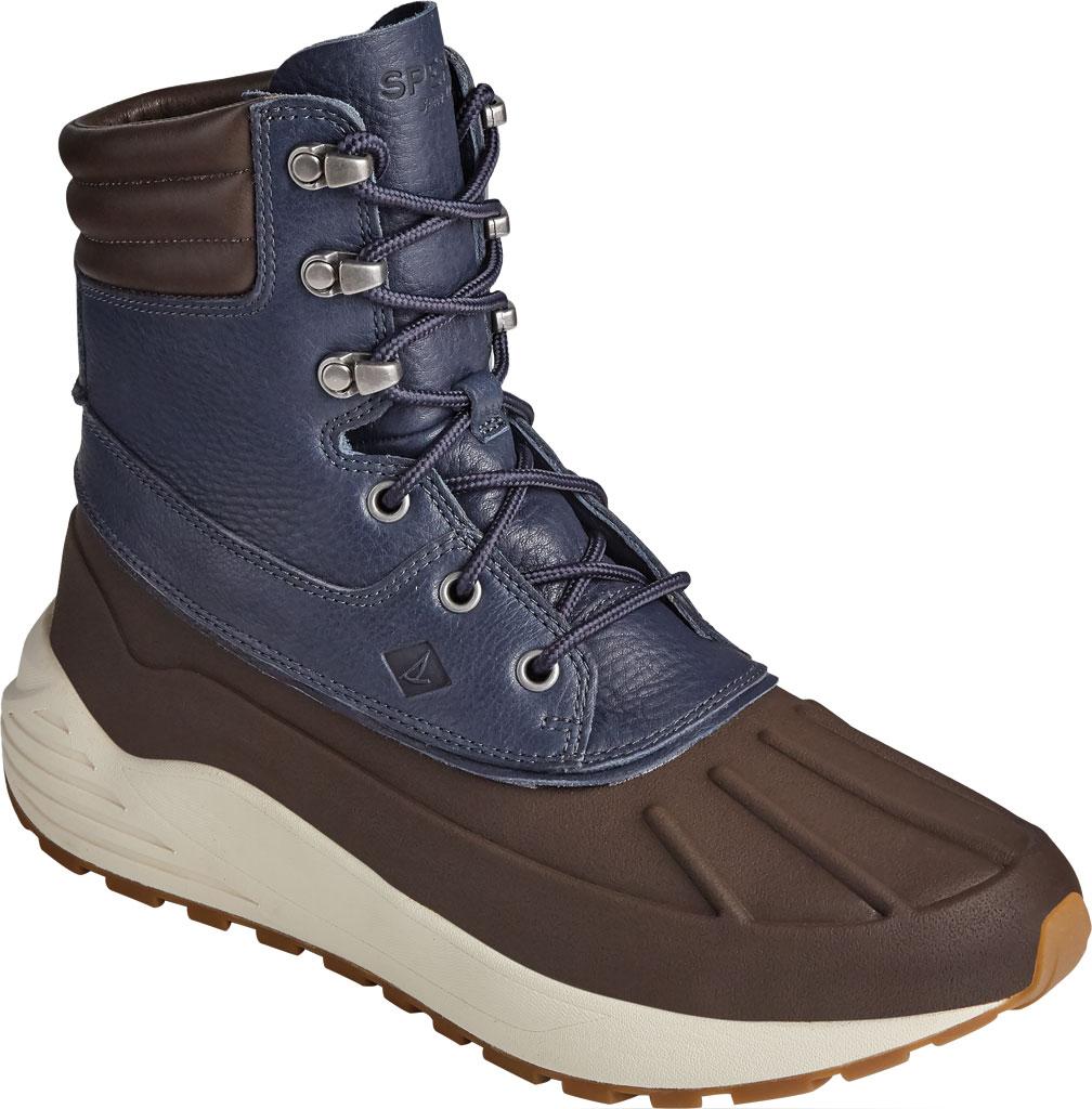 Men's Sperry Top-Sider Freeroam Hi Duck Boot, Dark Brown/Navy Leather, large, image 1