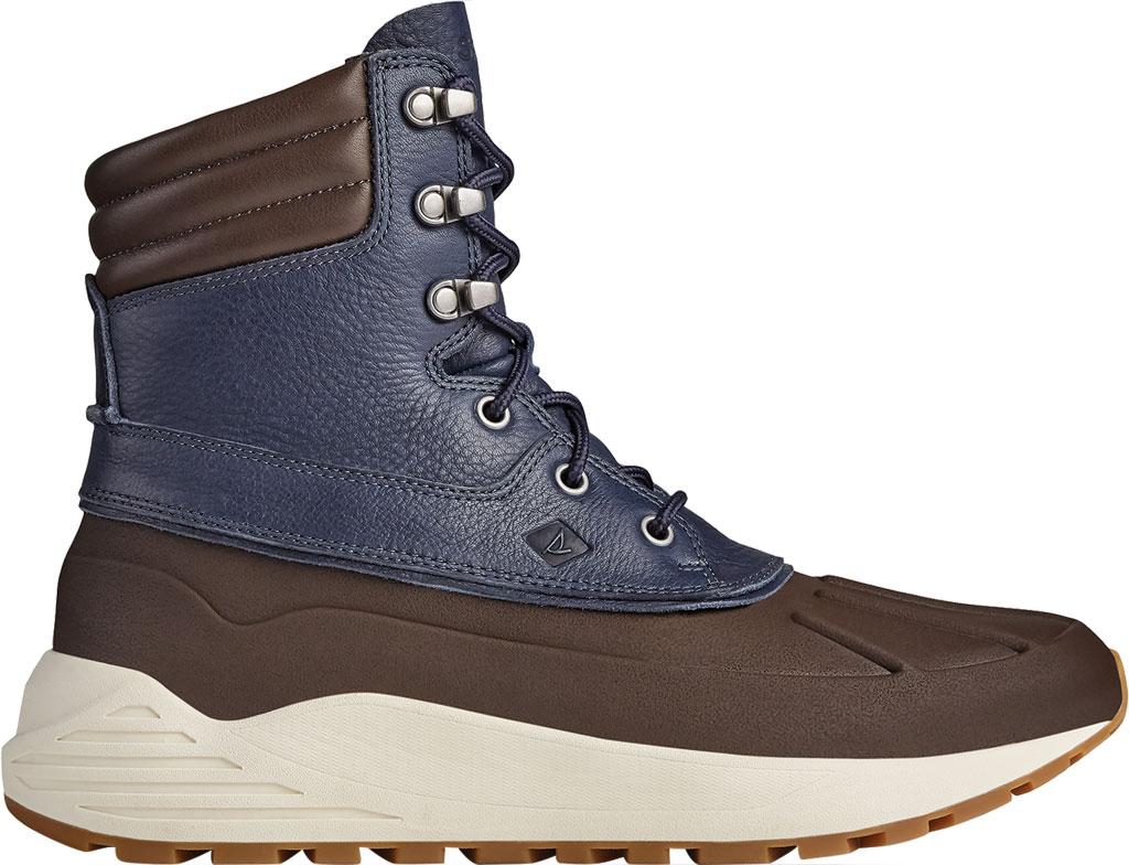 Men's Sperry Top-Sider Freeroam Hi Duck Boot, Dark Brown/Navy Leather, large, image 2