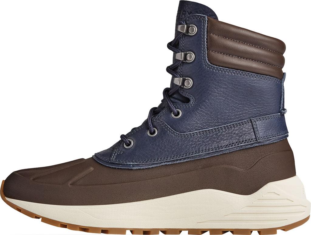 Men's Sperry Top-Sider Freeroam Hi Duck Boot, Dark Brown/Navy Leather, large, image 3