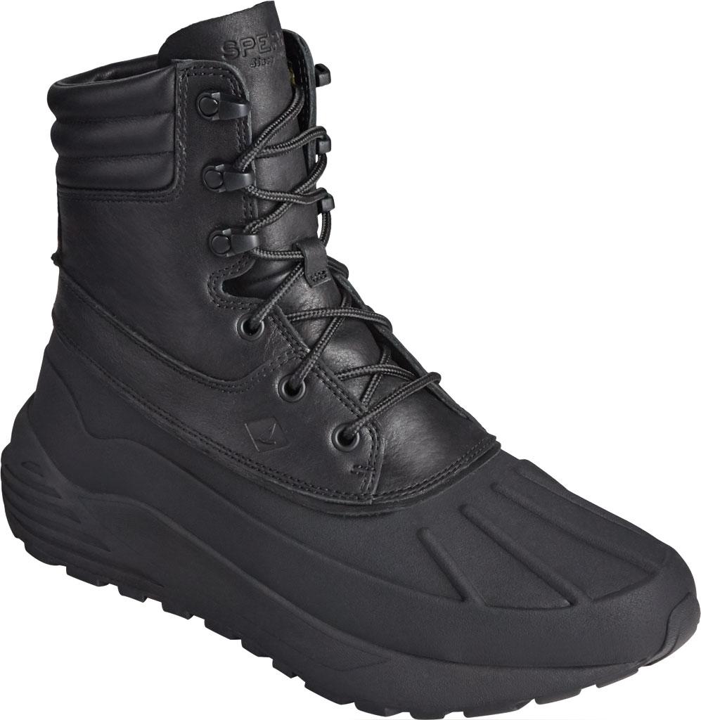 Men's Sperry Top-Sider Freeroam Hi Duck Boot, Black Leather, large, image 1