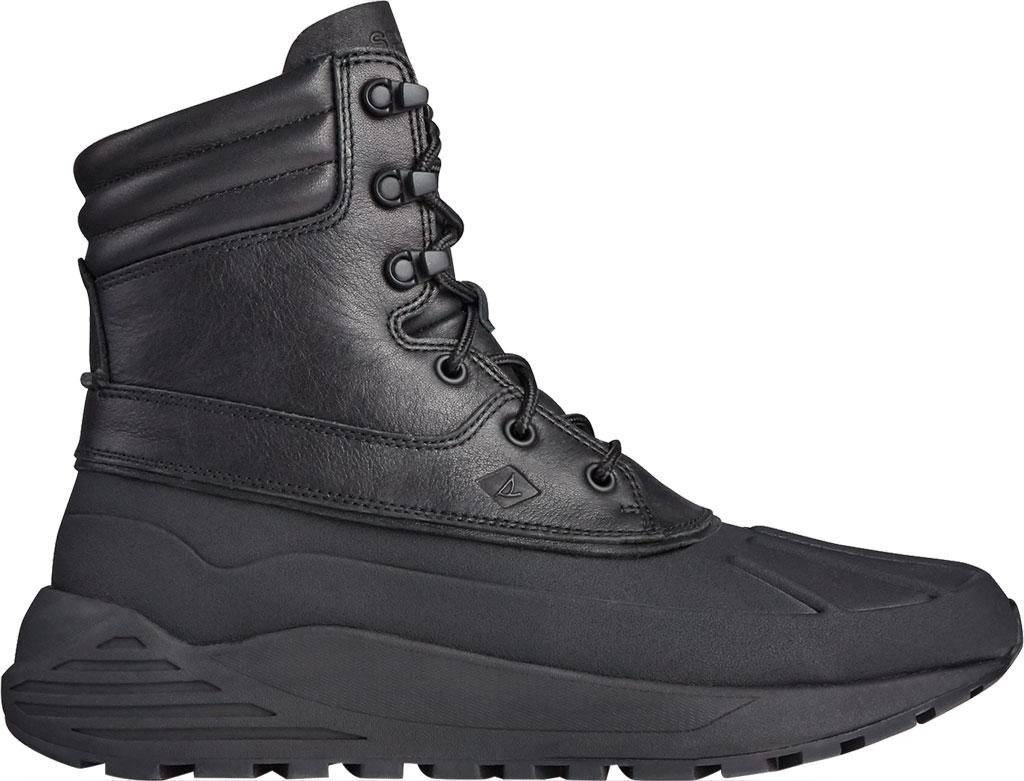 Men's Sperry Top-Sider Freeroam Hi Duck Boot, Black Leather, large, image 2