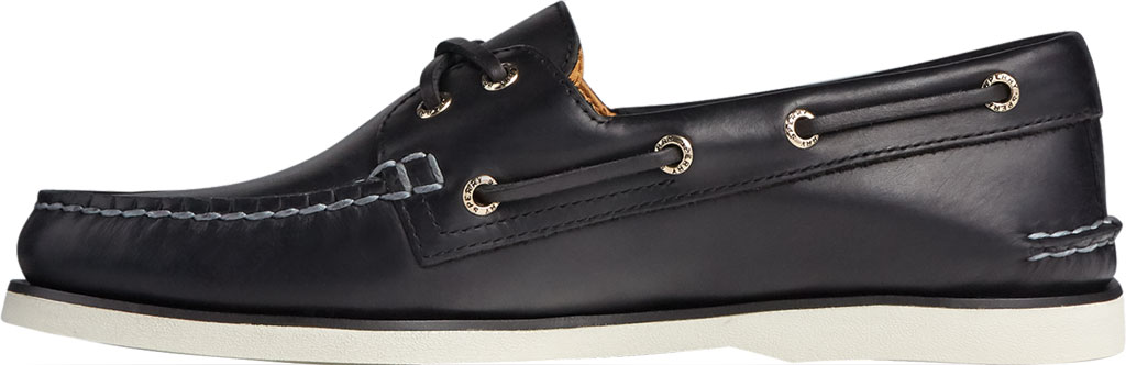 Men's Sperry Top-Sider Gold Cup Authentic Original 2-Eye Orleans Shoe, Black Full Grain Leather, large, image 3
