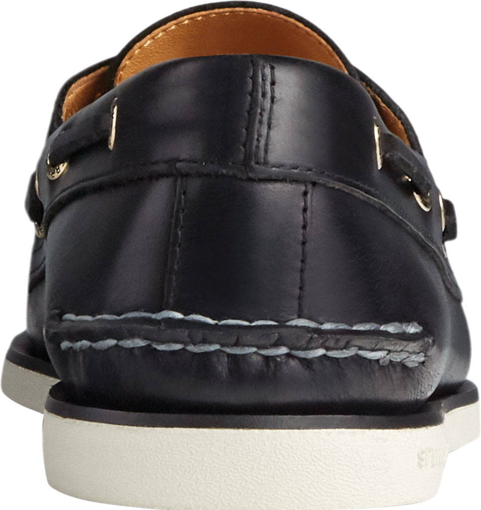 Men's Sperry Top-Sider Gold Cup Authentic Original 2-Eye Orleans Shoe, Black Full Grain Leather, large, image 4