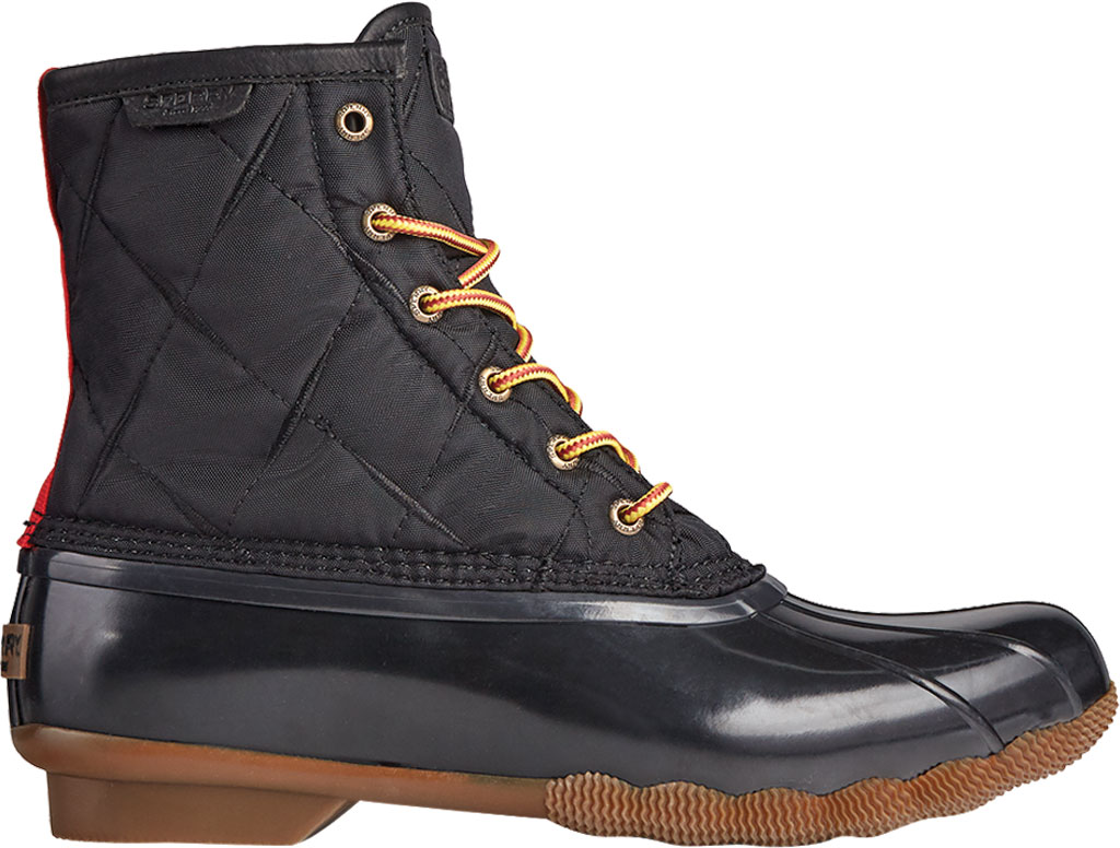 Men's Sperry Top-Sider Saltwater Quilted Nylon Duck Boot, Black Nylon/Rubber, large, image 2