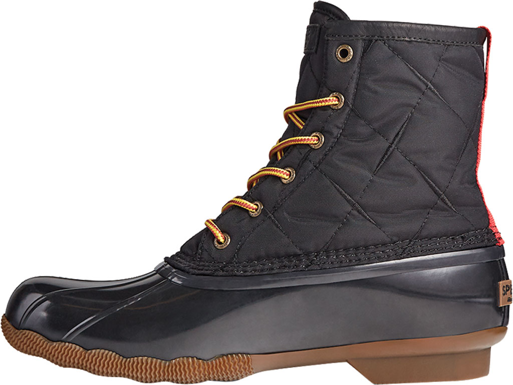 Men's Sperry Top-Sider Saltwater Quilted Nylon Duck Boot, Black Nylon/Rubber, large, image 3