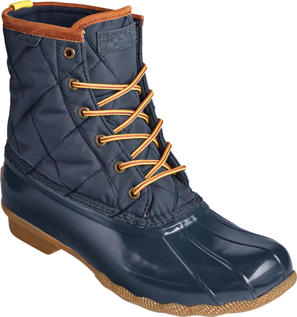Men's Sperry Top-Sider Saltwater Quilted Nylon Duck Boot, Navy Nylon/Rubber, large, image 1