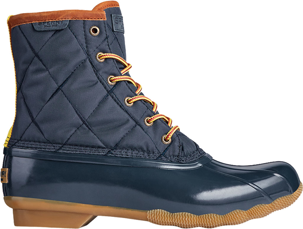 Men's Sperry Top-Sider Saltwater Quilted Nylon Duck Boot, Navy Nylon/Rubber, large, image 2