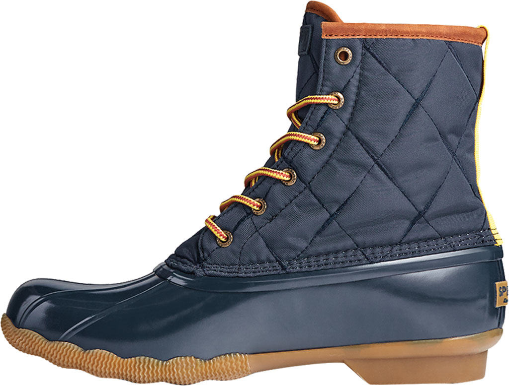 Men's Sperry Top-Sider Saltwater Quilted Nylon Duck Boot, Navy Nylon/Rubber, large, image 3