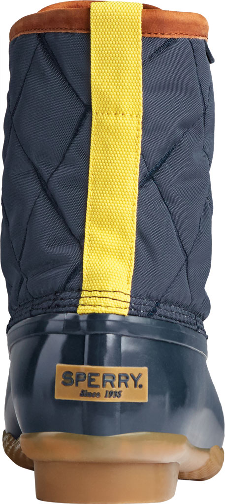 Men's Sperry Top-Sider Saltwater Quilted Nylon Duck Boot, Navy Nylon/Rubber, large, image 4