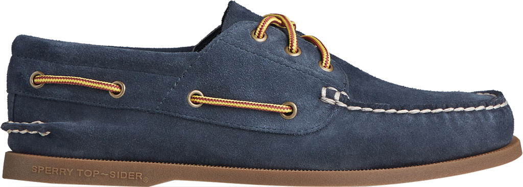 Men's Sperry Top-Sider Authentic Original 3-Eye Suede Boat Shoe, Navy/Gum Suede, large, image 2