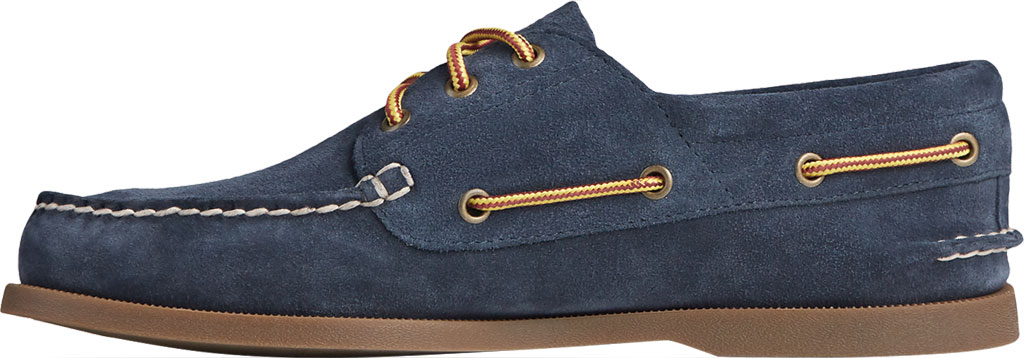 Men's Sperry Top-Sider Authentic Original 3-Eye Suede Boat Shoe, Navy/Gum Suede, large, image 3