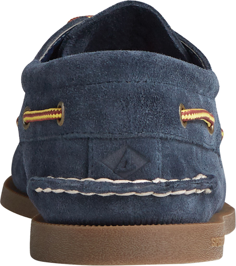 Men's Sperry Top-Sider Authentic Original 3-Eye Suede Boat Shoe, Navy/Gum Suede, large, image 4
