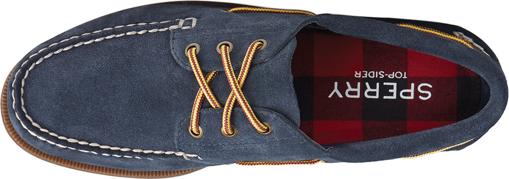 Men's Sperry Top-Sider Authentic Original 3-Eye Suede Boat Shoe, Navy/Gum Suede, large, image 5