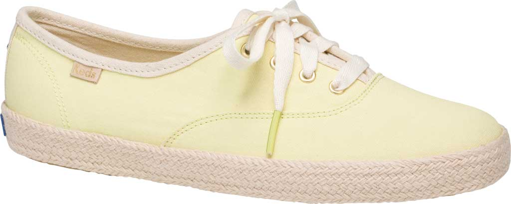 Women's Keds Kate Spade Champion Oxford Neon Canvas Sneaker, Yellow Canvas, large, image 1