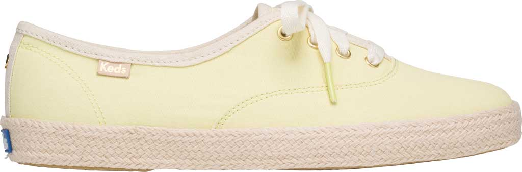 Women's Keds Kate Spade Champion Oxford Neon Canvas Sneaker, Yellow Canvas, large, image 2