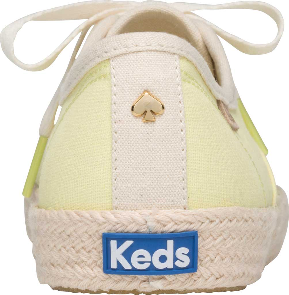 Women's Keds Kate Spade Champion Oxford Neon Canvas Sneaker, Yellow Canvas, large, image 3