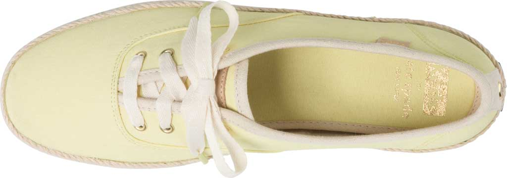Women's Keds Kate Spade Champion Oxford Neon Canvas Sneaker, Yellow Canvas, large, image 4