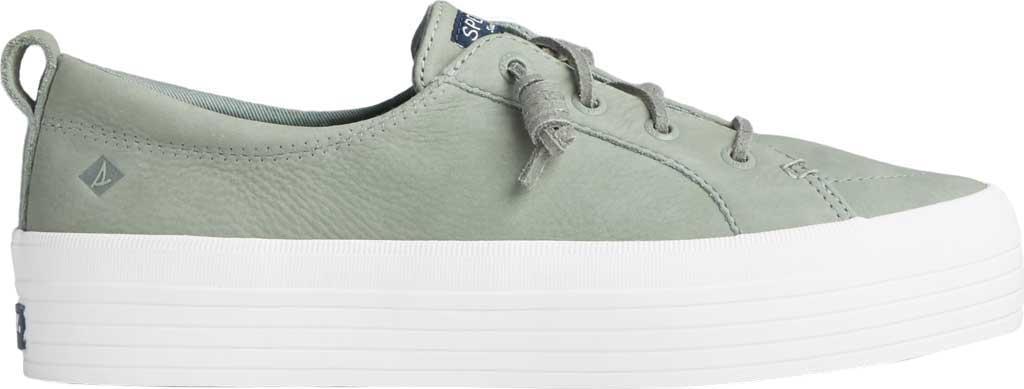 Women's Sperry Top-Sider Crest Vibe Platform Leather Sneaker, Sage Leather, large, image 2