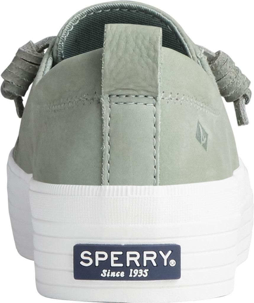 Women's Sperry Top-Sider Crest Vibe Platform Leather Sneaker, Sage Leather, large, image 4