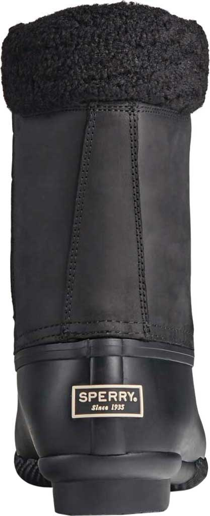 Women's Sperry Top-Sider Saltwater Tall Leather Cozy Mid Calf Duck Boot, Black Leather/Rubber, large, image 4