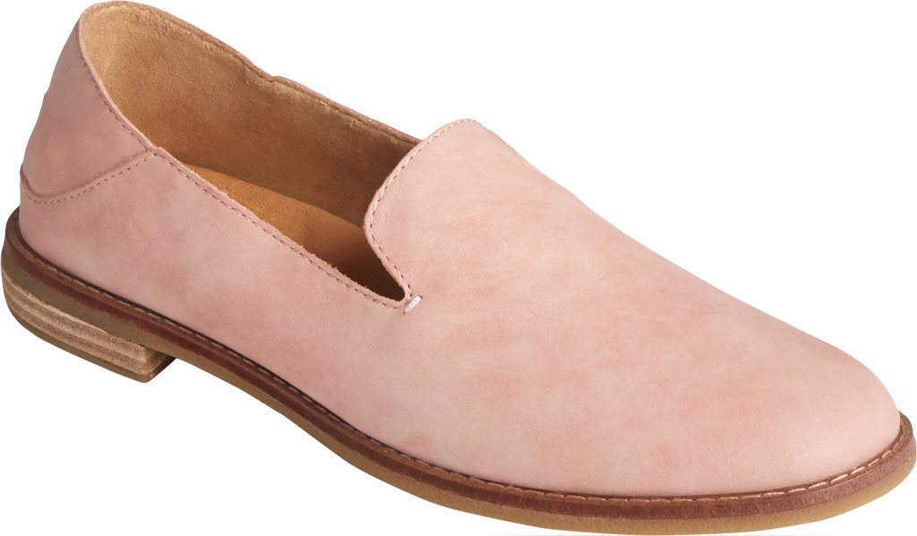 Women's Sperry Top-Sider Seaport Levy Starlight Leather Loafer, Blush Leather, large, image 1