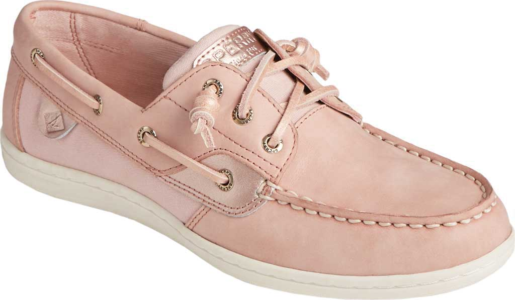 Women's Sperry Top-Sider Songfish Starlight Leather Boat Shoe, Blush Leather, large, image 1