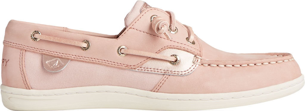 Women's Sperry Top-Sider Songfish Starlight Leather Boat Shoe, Blush Leather, large, image 2