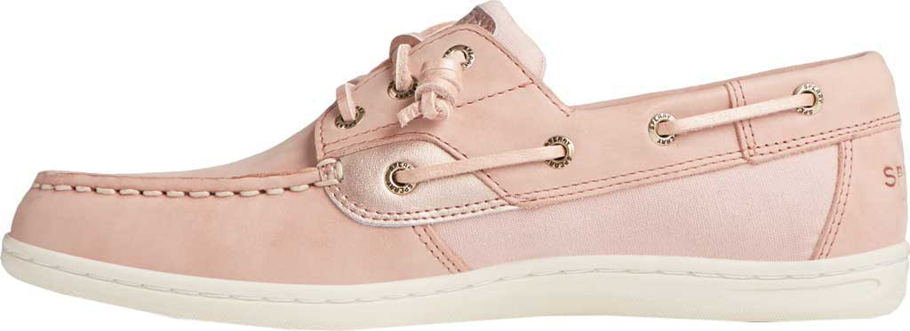 Women's Sperry Top-Sider Songfish Starlight Leather Boat Shoe, Blush Leather, large, image 3