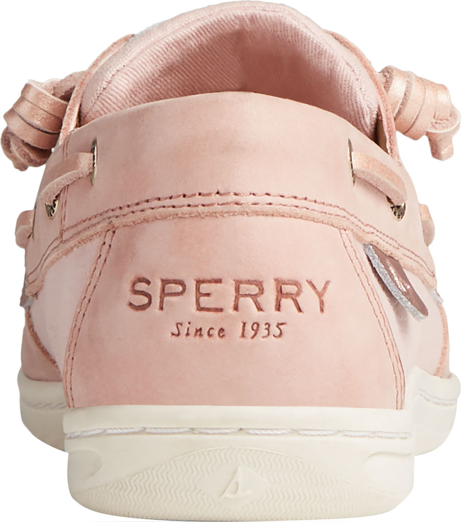 Women's Sperry Top-Sider Songfish Starlight Leather Boat Shoe, Blush Leather, large, image 4