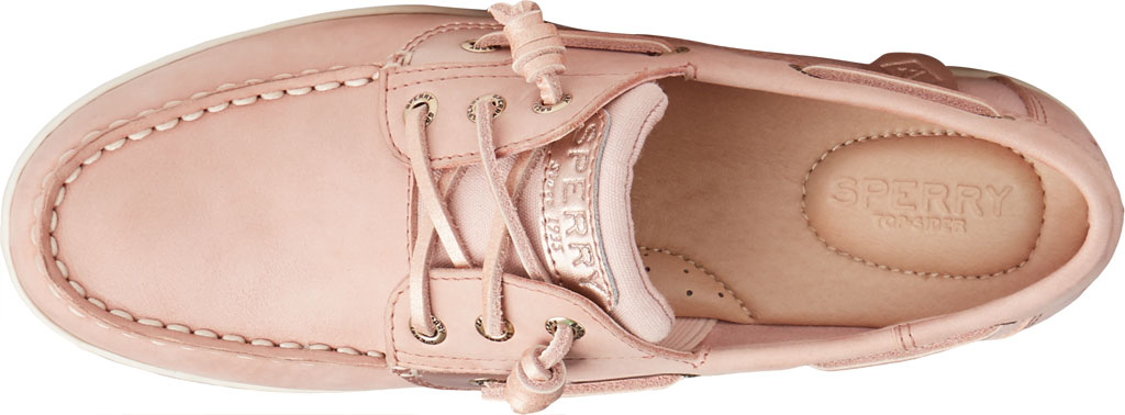 Women's Sperry Top-Sider Songfish Starlight Leather Boat Shoe, Blush Leather, large, image 5