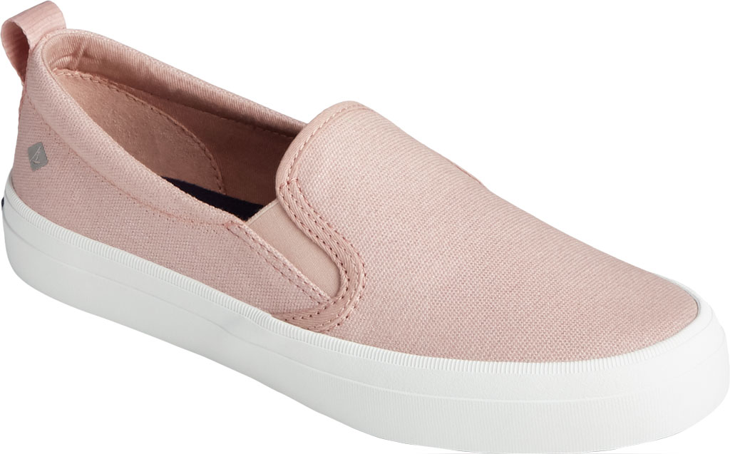 Women's Sperry Top-Sider Crest Twin Gore Sparkle Textile Slip On Sneaker, Blush Textile, large, image 1