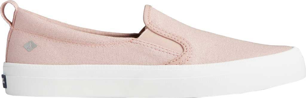 Women's Sperry Top-Sider Crest Twin Gore Sparkle Textile Slip On Sneaker, Blush Textile, large, image 2