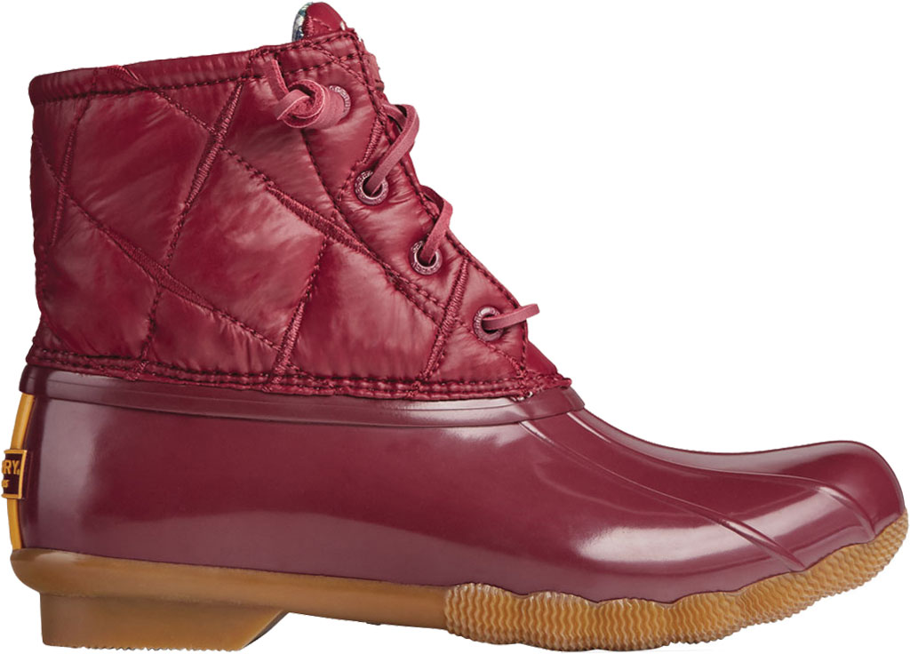 Women's Sperry Top-Sider Saltwater Nylon Quilted Duck Boot, Cordovan Quilted Nylon/Rubber, large, image 2
