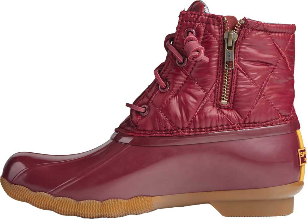 Women's Sperry Top-Sider Saltwater Nylon Quilted Duck Boot, Cordovan Quilted Nylon/Rubber, large, image 3