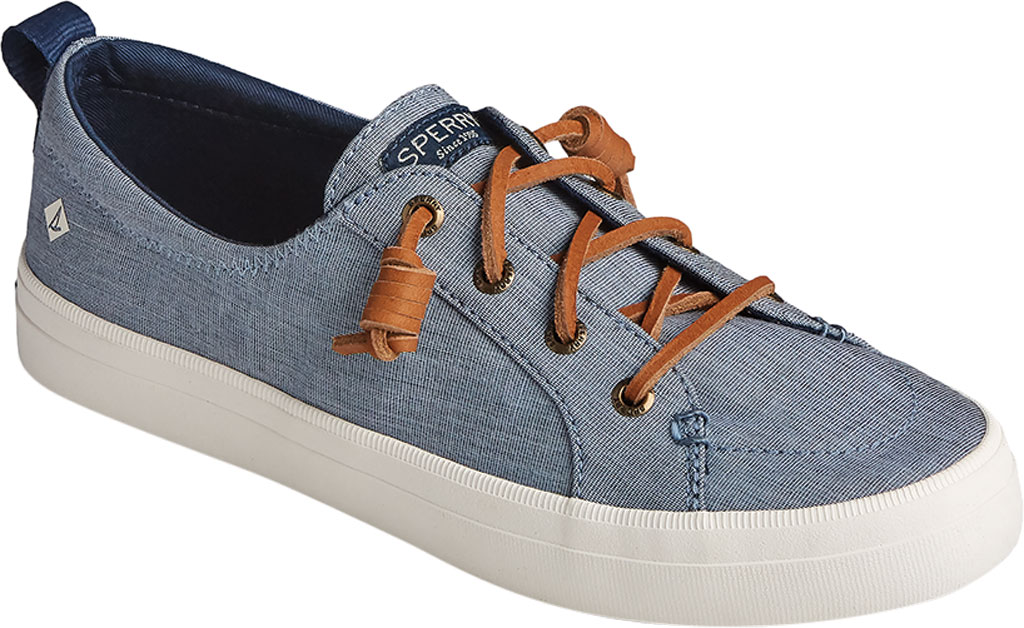 Women's Sperry Top-Sider Crest Vibe Two Tone Chambray Sneaker, Navy Canvas, large, image 1