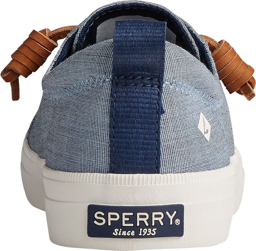 Women's Sperry Top-Sider Crest Vibe Two Tone Chambray Sneaker, Navy Canvas, large, image 4