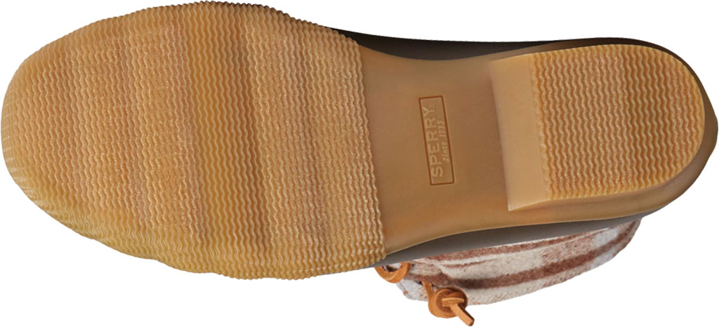 Women's Sperry Top-Sider Saltwater Plaid Wool Duck Boot, Brown Wool/Rubber, large, image 6