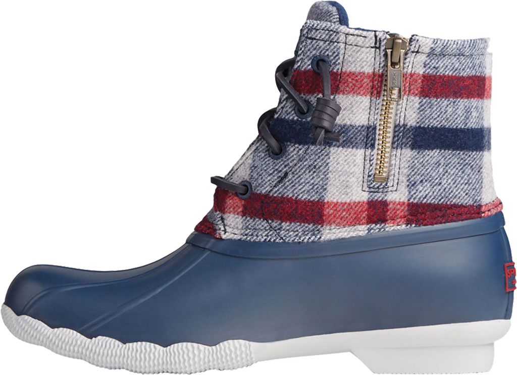 Women's Sperry Top-Sider Saltwater Plaid Wool Duck Boot, Ivory Wool/Rubber, large, image 3