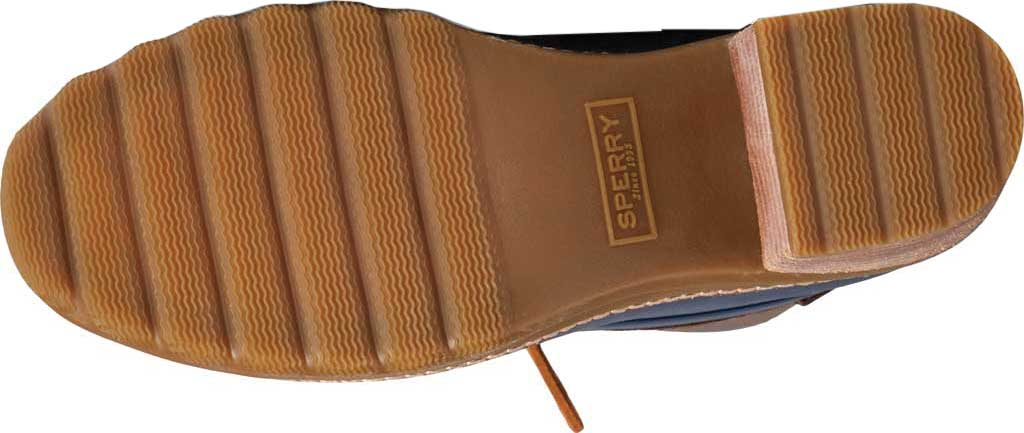 Women's Sperry Top-Sider Saltwater Heel Leather Duck Boot, Brown/Navy Leather/Rubber, large, image 6