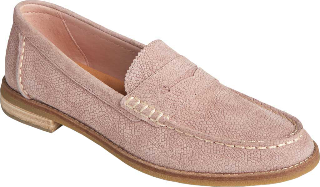 Women's Sperry Top-Sider Seaport Serpent Leather Penny Loafer, Blush Leather, large, image 1