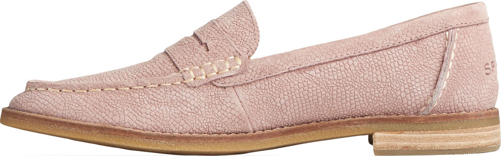 Women's Sperry Top-Sider Seaport Serpent Leather Penny Loafer, Blush Leather, large, image 3