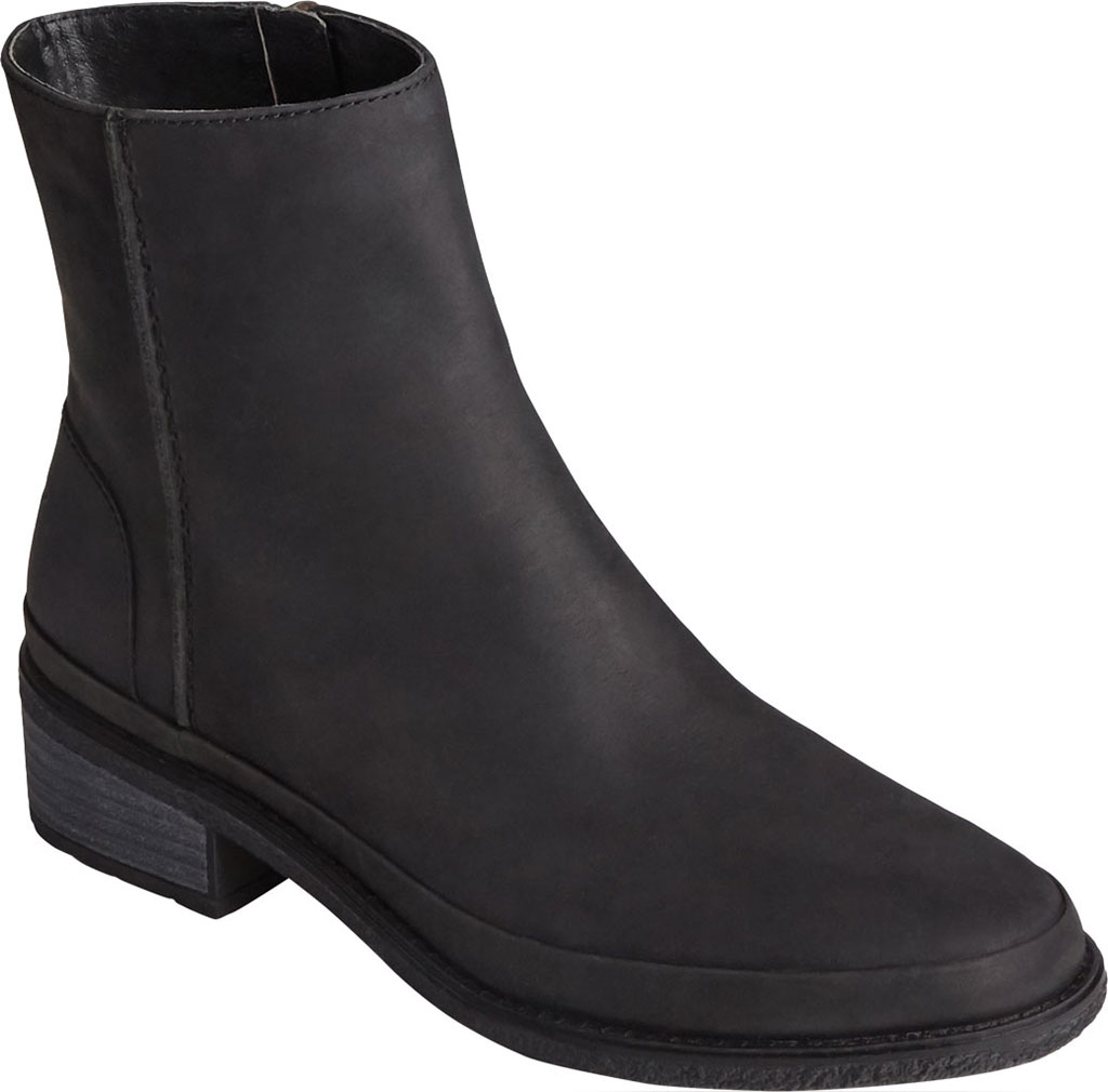 Women's Sperry Top-Sider Seaport Storm Mid Leather Bootie, Black Waterproof Leather, large, image 1