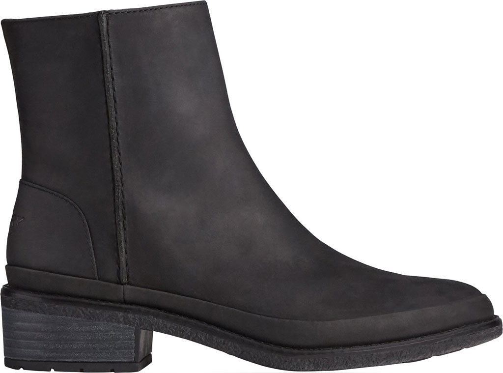 Women's Sperry Top-Sider Seaport Storm Mid Leather Bootie, Black Waterproof Leather, large, image 2