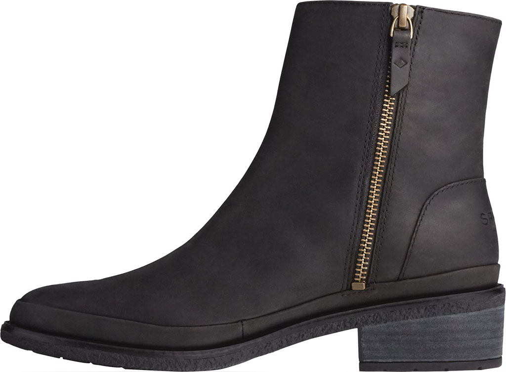 Women's Sperry Top-Sider Seaport Storm Mid Leather Bootie, Black Waterproof Leather, large, image 3